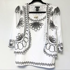 NWT Lauren Michelle Embellished Blouse Small